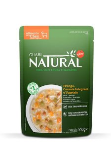 Guabi Natural Sachê Cão Adulto Frango, Cereais Integrais e Vegetais 100g