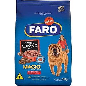 Ração Faro Macio Cães Adultos/Filhotes Carne 900g