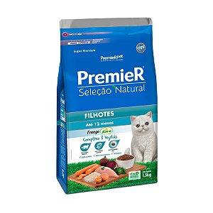 Ração Premier Seleção Natural para Gatos Filhotes Sabor Frango Korin 1,5kg