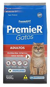 Ração Premier Ambientes Internos para Gatos Adultos Sabor Salmão