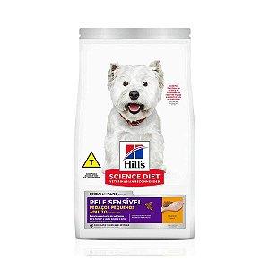 Ração Hill's Science Diet para Cães Adultos com Pele Sensível - Pedaços Pequenos
