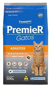Ração Premier Ambientes Internos para Gatos Adultos Sabor Frango