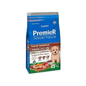 Ração Premier Seleção Natural para Cães Filhotes Raças Pequenas Sabor Frango com Batata Doce