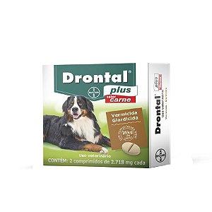 Drontal Cão Ate 35kg Sabor Carne com 2 Comprimidos Bayer
