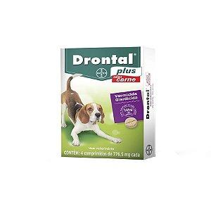 Drontal Cão Ate 10kg Sabor Carne com 4 Comprimidos Bayer