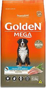 Ração Golden Mega para Cães Adultos Porte Grande Frango e Arroz 15kg