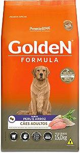 Ração Golden Formula para Cães Adultos Peru e Arroz 15kg
