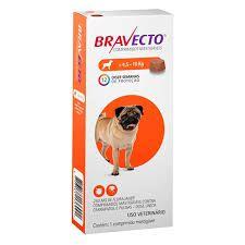 Bravecto Antipulgas e Carrapatos para Cães de 4,5 a 10kg 250mg 1 Comprimido Msd