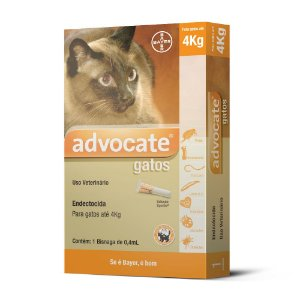 Advocate Gatos 0.4ml Ate 4kg Bayer