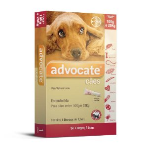 Advocate Cães 2.5ml 10 a 25kg Bayer