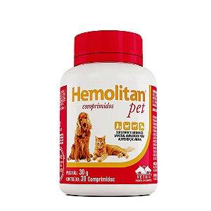Hemolitan Pet Suplemento 30 Comprimidos Vetnil