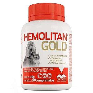 Hemolitan Gold Suplemento 30 Comprimidos Vetnil