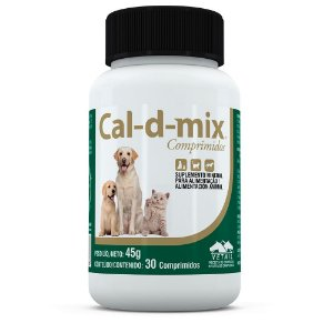 Cal-D-Mix Suplemento 30 Comprimidos Vetnil