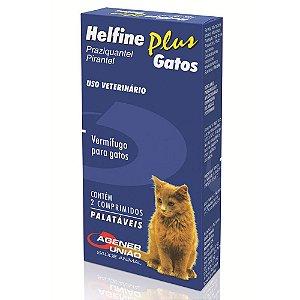 Helfine Plus   Antiparasitário Gatos 2 Comprimidos Agener