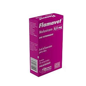 Flamavet Anti-inflamatório  0,5mg 10 Comprimidos Agener