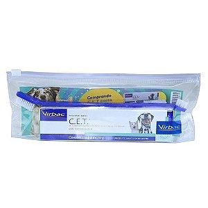 Kit de Saúde Oral Pasta e Escova para Cães e Gatos Virbac
