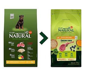 Ração Guabi Natural para Cães Adultos Porte Grande e Gigante Sabor Cordeiro e Aveia 12kg