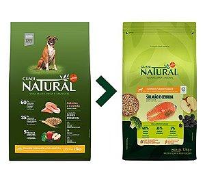 Ração Guabi Natural para Cães Adultos Porte Grande e Gigante Sabor Salmão e Cevada 12kg
