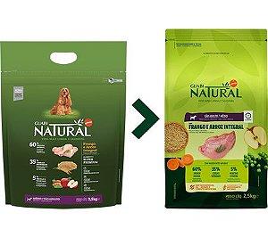 Ração Guabi Natural para Cães Adultos Porte Médio Sabor Frango e Arroz Integral