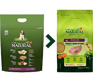 Ração Guabi Natural para Cães Filhotes Porte Médio Sabor Frango e Arroz Integral