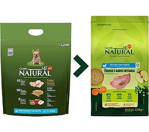 Ração Guabi Natural para Cães Filhotes Porte Mini e Pequeno Sabor Frango e Arroz Integral