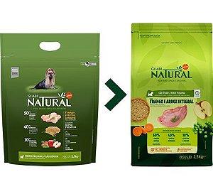 Ração Guabi Natural para Cães Sênior Porte Mini e Pequeno Sabor Frango e Arroz Integral