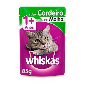 Whiskas Sachê Gato Adulto Cordeiro ao Molho 85g
