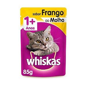 Whiskas Sachê Gato Adulto Frango ao Molho 85g