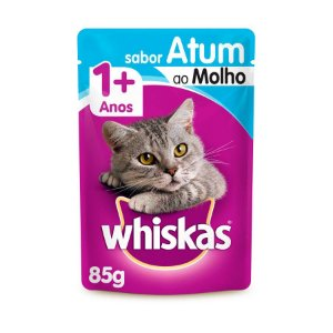 Whiskas Sachê Gato Adulto Atum ao Molho 85g