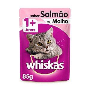 Whiskas Sachê Gato Adulto Salmão ao Molho 85g