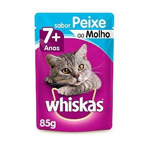 Whiskas Sachê Gato Adulto 7+ Senior Peixe Ao Molho 85g