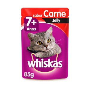 Whiskas Sachê Gato Adulto 7+ Senior Carne Jelly 85g