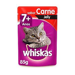 Whiskas Sachê Gato Adulto 7+ Senior Carne Jelly 85g