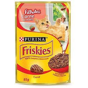 Friskies Sachê Gatos Filhotes Carne Ao Molho 85g