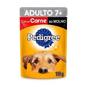 Pedigree Sachê Câes Adultos 7+ Senior Carne ao Molho 100g