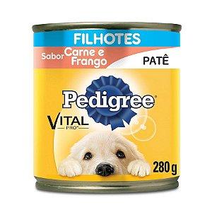 Pedigree Lata Câes Filhotes Carne e Frango Patê 280g