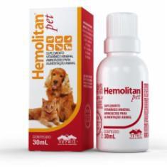 Hemolitan Pet Suplemento Vitaminico Cães e Gatos Vetnil