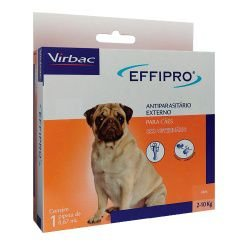 Effipro Antiplugas e Carrapatos para Cães de 2kg a 10Kg 0,67mL Virbac