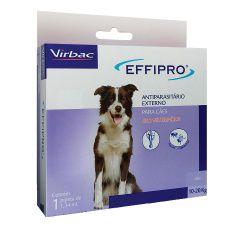 Effipro Antiplugas e Carrapatos para Cães de 10kg a 20Kg 1,34mL Virbac