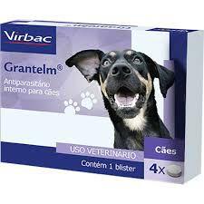 Grantelm Vermífugo para Cães 4 Comprimidos Virbac