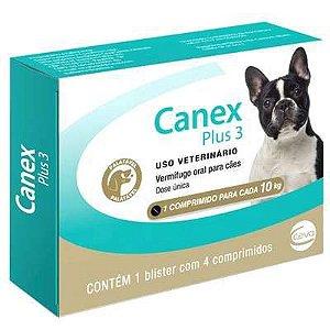 Canex Plus 3 Vermífugo com 4 Comprimidos