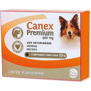 Canex Premium Vermífugo 900mg com 4 Comprimidos