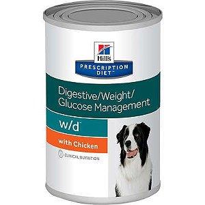 Ração Hill's Prescription Diet Lata w/d para Cães Adultos - Controle do Peso e Glicêmico 370g