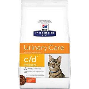 Ração Hill's Prescription Diet c/d Multicare para Gatos Adultos - Cuidado Urinário 1,8kg