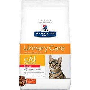 Ração Hill's Prescription Diet c/d Multicare Stress para Gatos Adultos - Cuidado Urinário 1,8kg