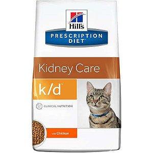 Ração Hill's Prescription Diet k/d para Gatos Adultos - Cuidado Renal 1,8kg