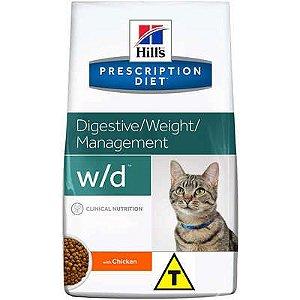 Ração Hill's Prescription Diet w/d para Gatos Adultos - Controle do Peso e Glicêmico 1,8kg