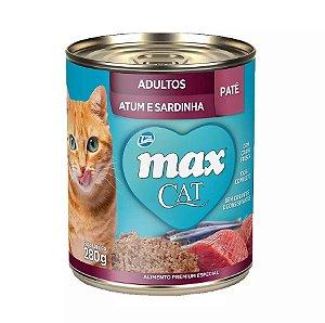 Max gato Lata Sabor Atum e Sardinha para Gatos 280g