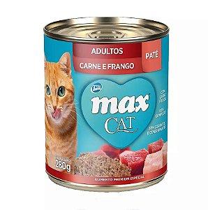 Max gato Lata Sabor Carne e Frango para Gatos 280g