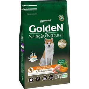 Ração Golden Seleção Natural para Cães Adultos Frango com Abóbora e Alecrim